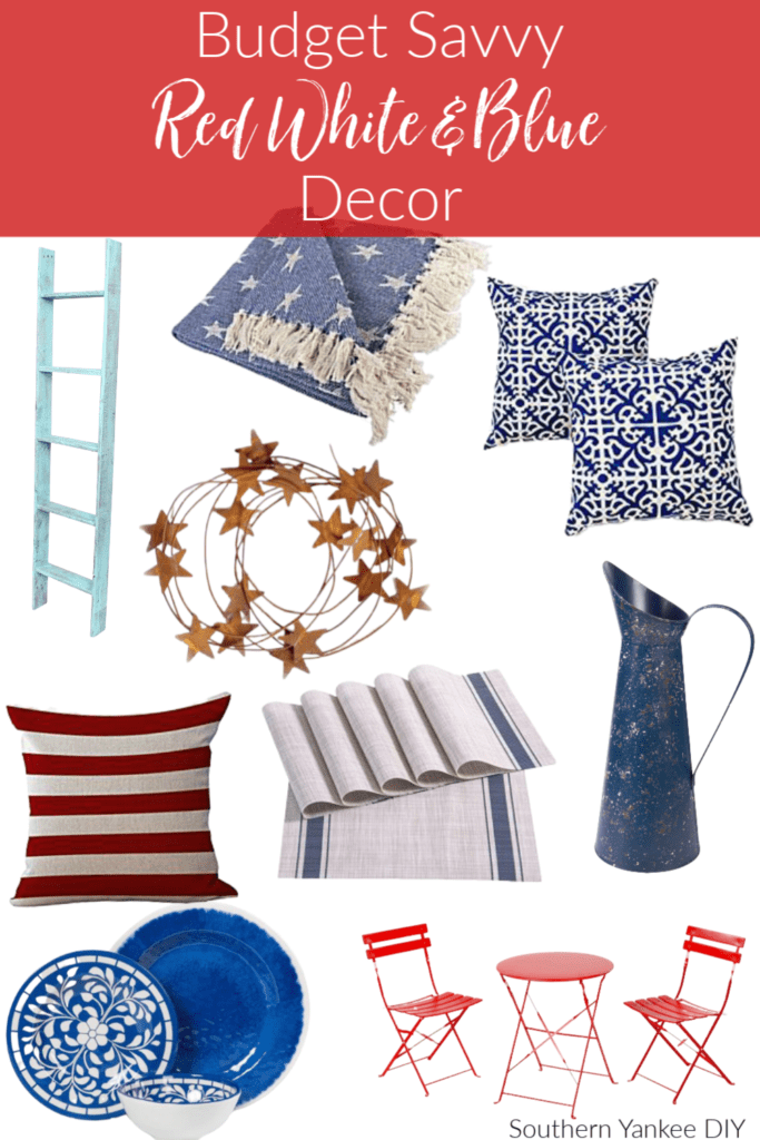 4th of july decor, farmhouse 4th of july decor, red, white, and blue, farmhouse amazon, red farmhouse decor, blue farmhouse decor, white farmhouse decor, patriotic decor, summer decor, memorial day, 4th of july, labor day, outdoor decor