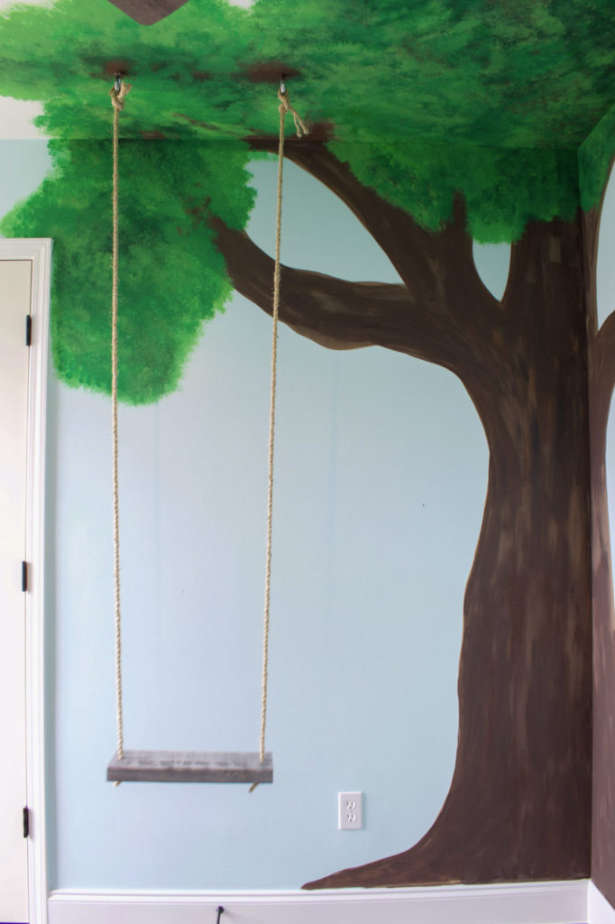 wall murals, wall mural ideas, feature walls, painted walls, kids wall ideas, nursery ideas, kids room ideas, stenciled walls, tree walls, stamped walls, geometric wall ideas, one room challenge, nursery design, inside swing, fun nursery ideas, fun kids room ideas, stenciled mural wall, wallpaper ideas