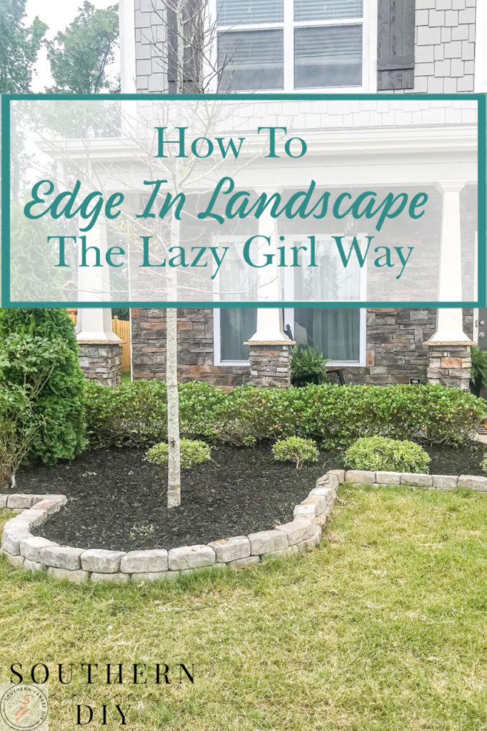 landscape, mulch, Worx Tools, edging, landscape ideas, curb appeal, diy landscape ideas, edging stones, landscape stones, front yard work, curb appeal ideas, budget savvy landscape, budget savvy front yard ideas, landroid grass cutter, automatic lawnmower