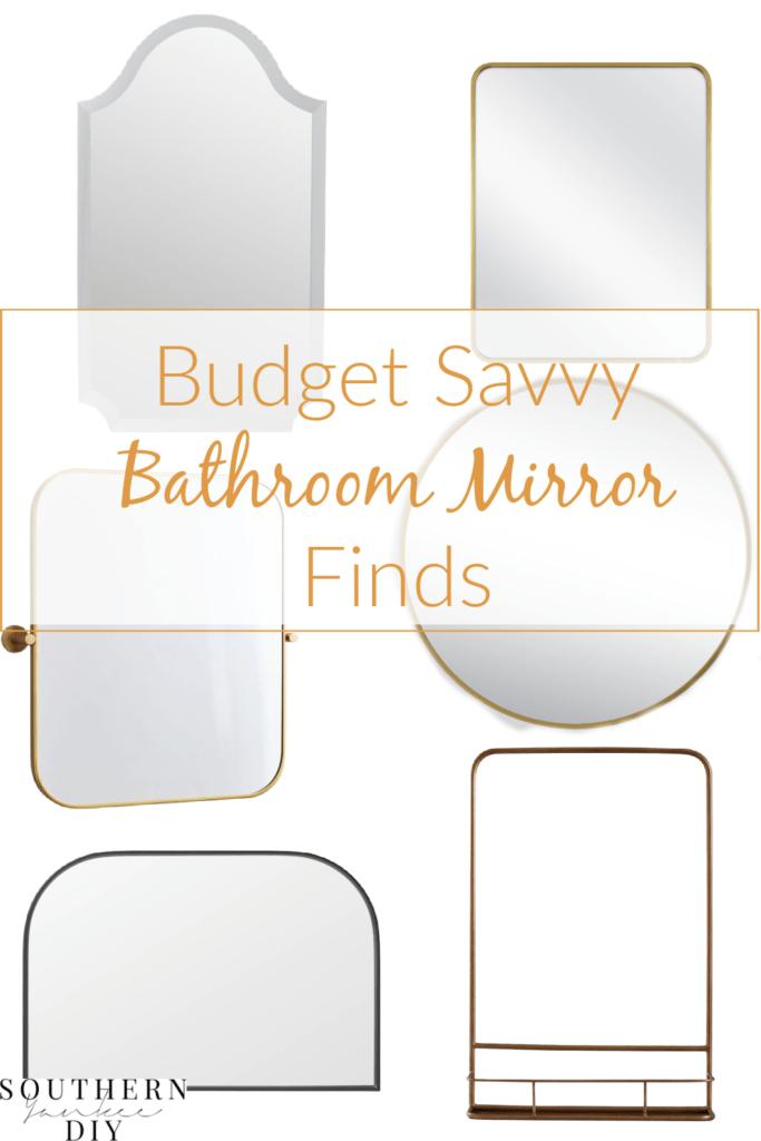 DIY bathroom mirror frame, diy framed mirror, how to frame in a bathroom mirror, bathroom mirror frame ideas, wood mirror frame, budget mirror frame, budget mirror options