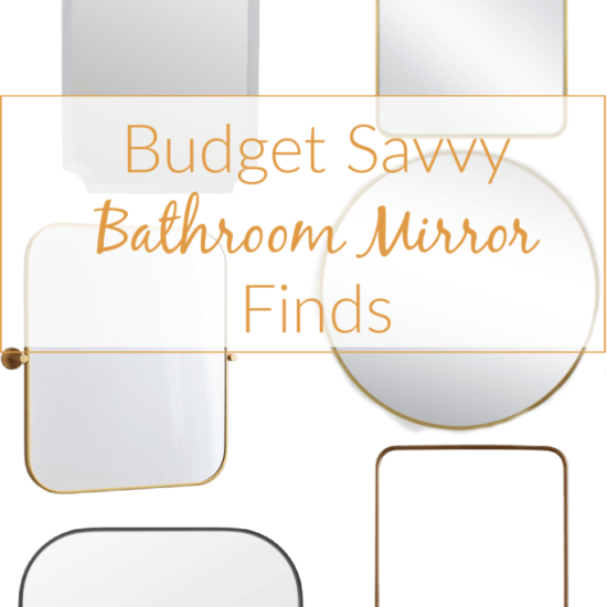 DIY bathroom mirror frame, diy framed mirror, how to frame in a bathroom mirror, bathroom mirror frame ideas, wood mirror frame, budget mirror frame, budget mirror options