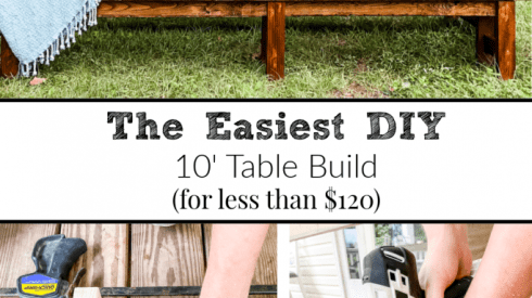 How To Build A 10 Foot Outdoor Table For Less Than $120