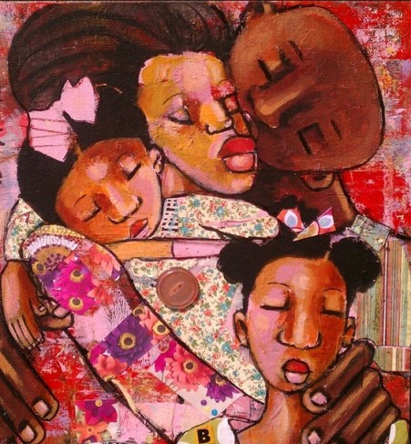 """Credit: """"Loving Family"""" by April Wilson Harrison"""
