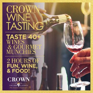 Crown wine tasting