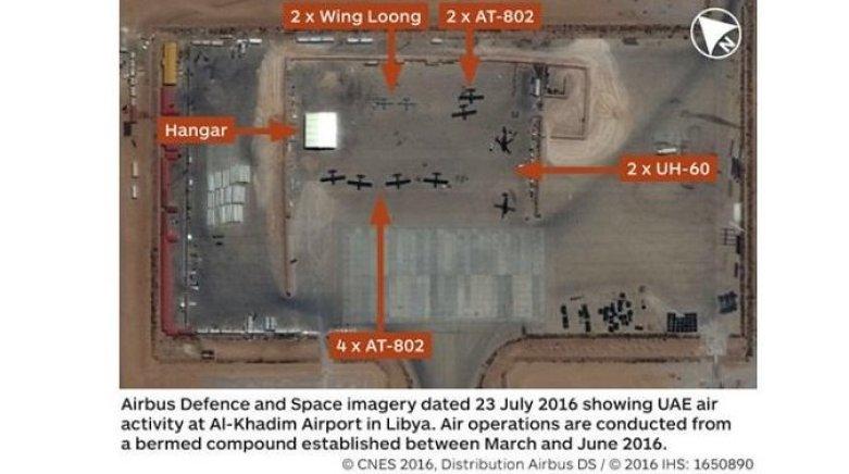Na fotografiách: GNA zastrelila krídla Loong II Combat Drone Over Misrata
