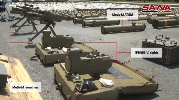 Armáda odhaľuje záťaže riadených rakiet, ozbrojených drôtov v južnej Sýrii (Video, fotky)