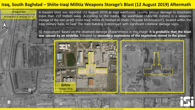 Satellite Image: Impact Of Explosion At Iraqi Popular Mobilization Units' Weapons Depot In Southern Baghdad
