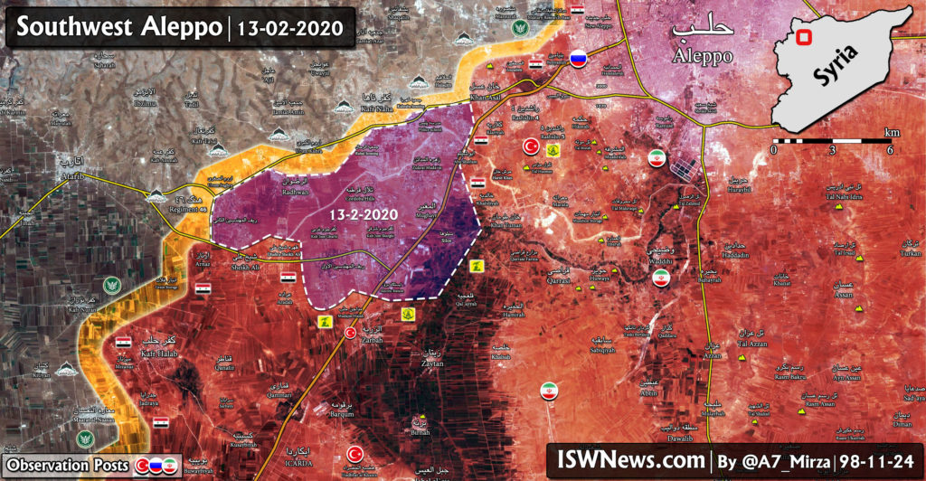 Syrian Army's Gains In Southwestern Aleppo Opens Road On Atarib (Map Update)