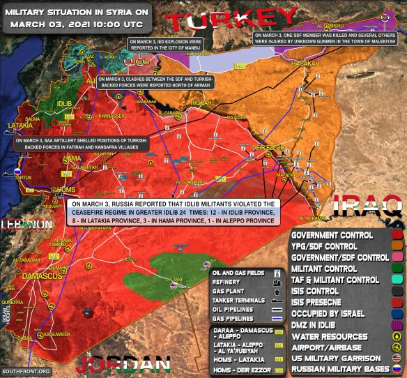 Military Situation In Syria On March 3, 2021 (Map Update)