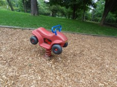 Toddler playground, springy car