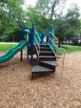 Toddler plaground, low climbing platforms