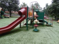 toddler playground from the back
