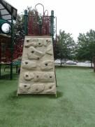 rock wall on big play area
