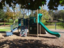 play structure, back