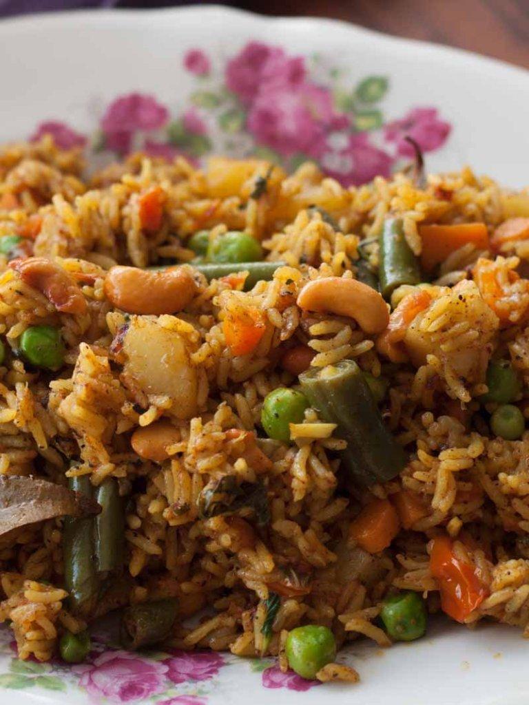 Spicy Vegetable Rice Recipe