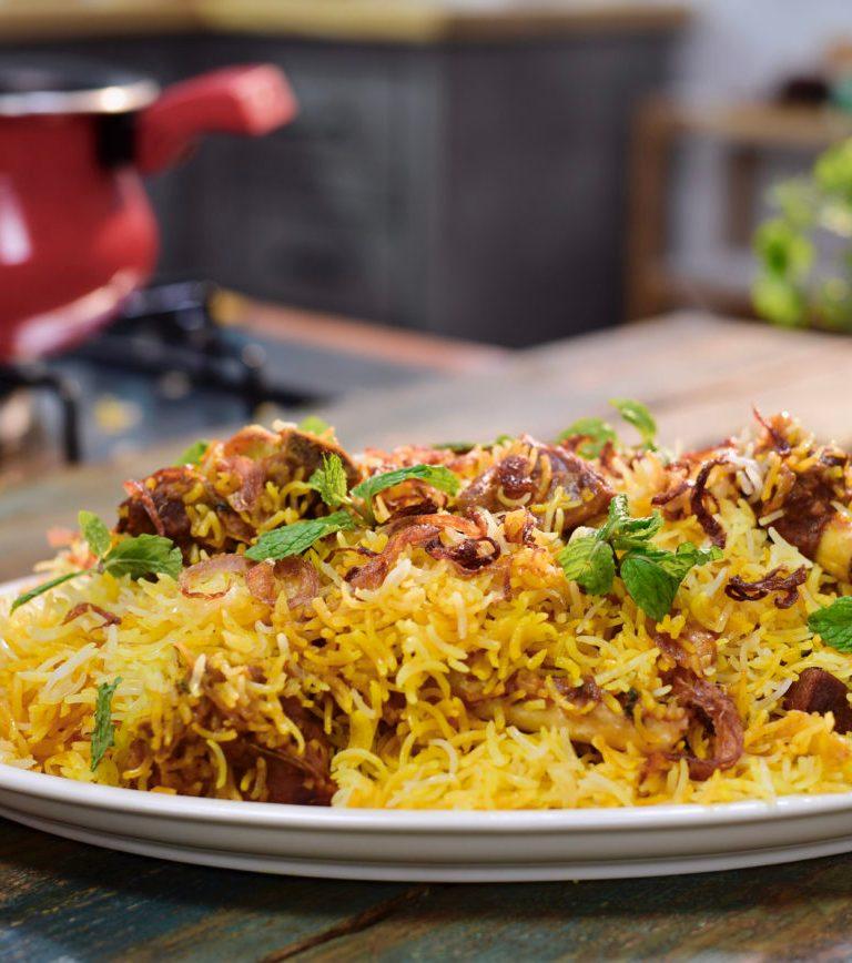 Hyderabadi mutton dum biryani