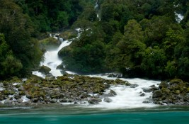 Roaring Billy waterfalls - Mt. Aspiring National Park