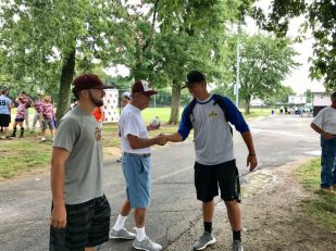 Joe Liscio with Dennis Coyle and Jake Gillis