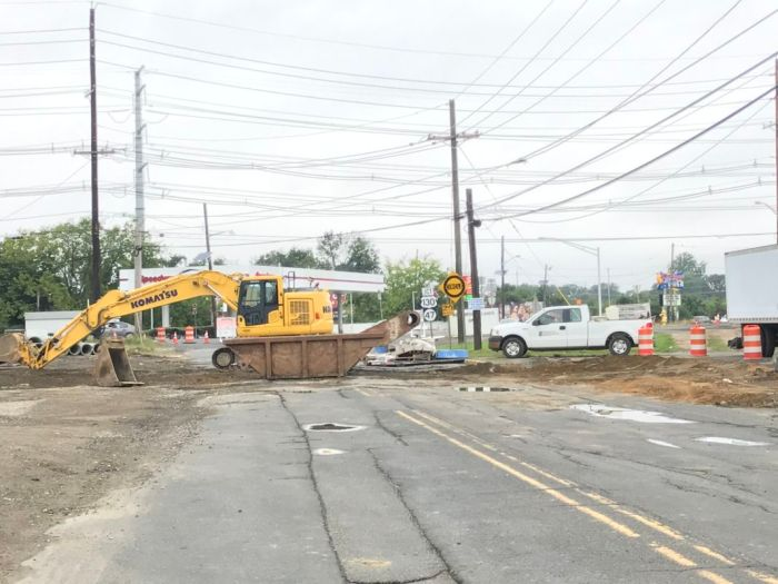 Brooklawn Circle and Old Salem Pike Detours