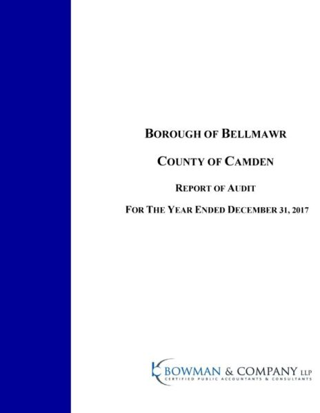 Bellmawr Borough 2018 Audit