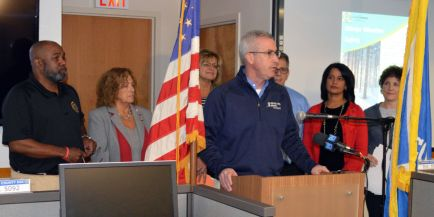 Marshall Murphy provides remarks at winter preparedness briefing