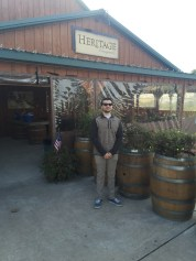 """Nick Morello, 21, an Advertising major at Rowan University, takes a study break to taste new wine at Heritage Vineyard in Mullica Hill, N.J., Wednesday October 26, 2016. Morello goes wine tasting often but never visited a winery in South Jersey. (Photo/Amanda Dean). """"I didn't realize how close Heritage Vineyard was to campus, I'm excited to try new wine,"""" said Morello."""