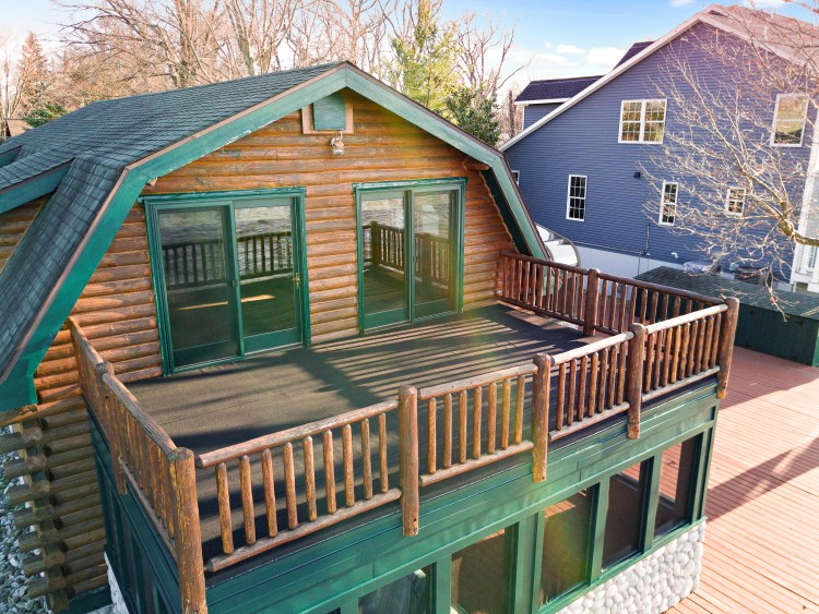 Aerial view of the loft deck