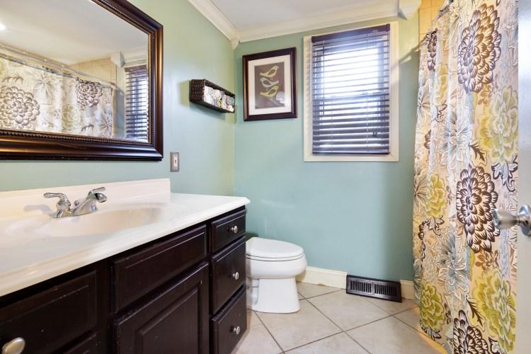 The hall bathroom