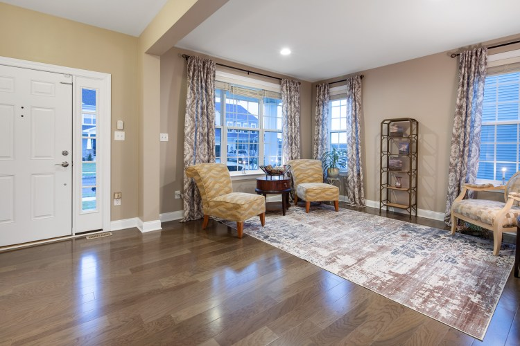 Foyer and formal living room