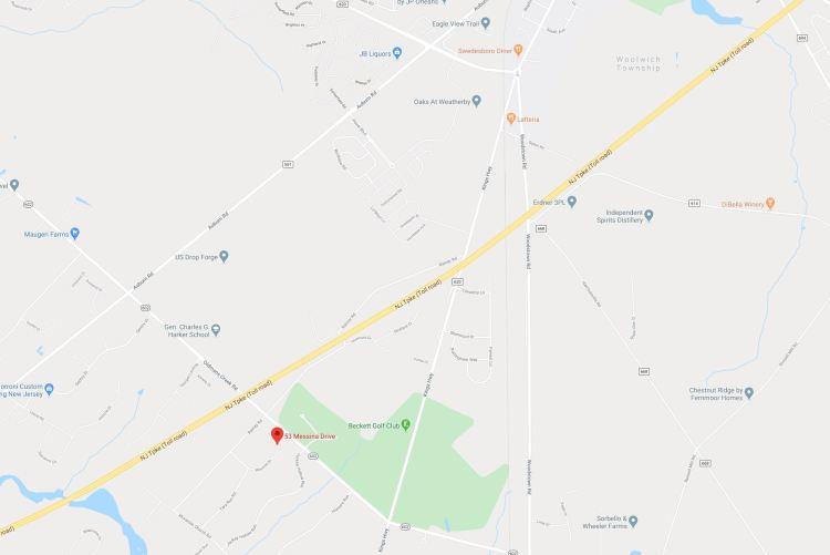 Location of 53 Messina Drive Swedesboro