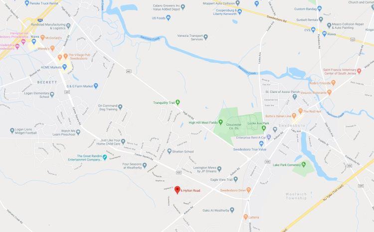 Map 6 Hylton Rd Swedesboro