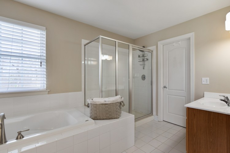 Master bathroom at 119 Juniper Drive