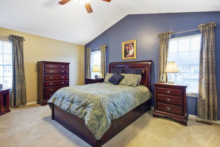 Master Bedroom has vaulted ceilings