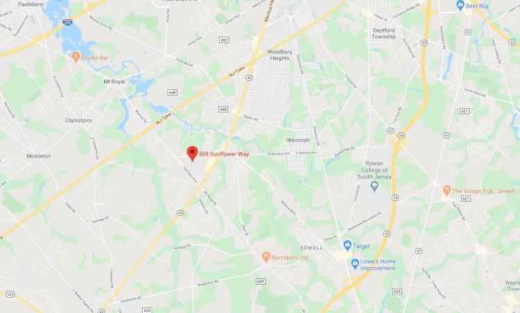 Map location of 509 Sunflower Way