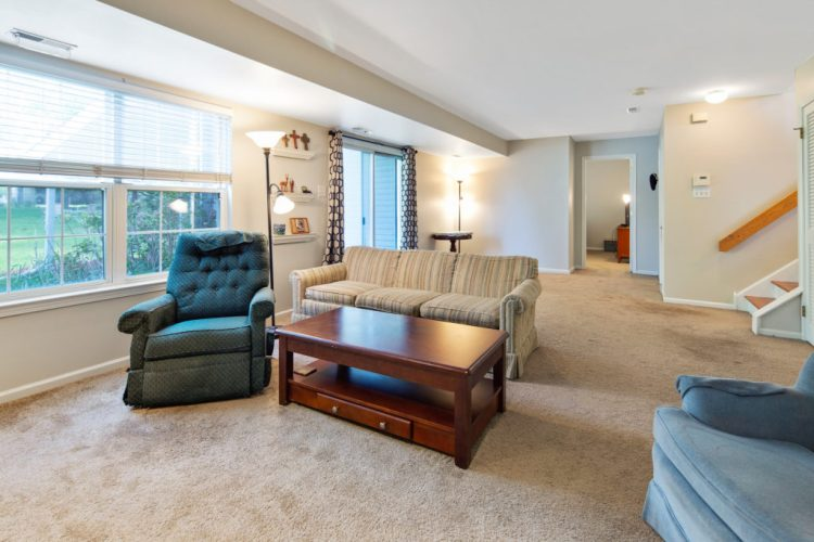 Family room on the lower level