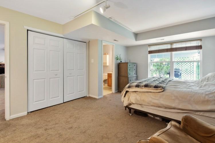 The en-suite bedroom has plenty of closet space.