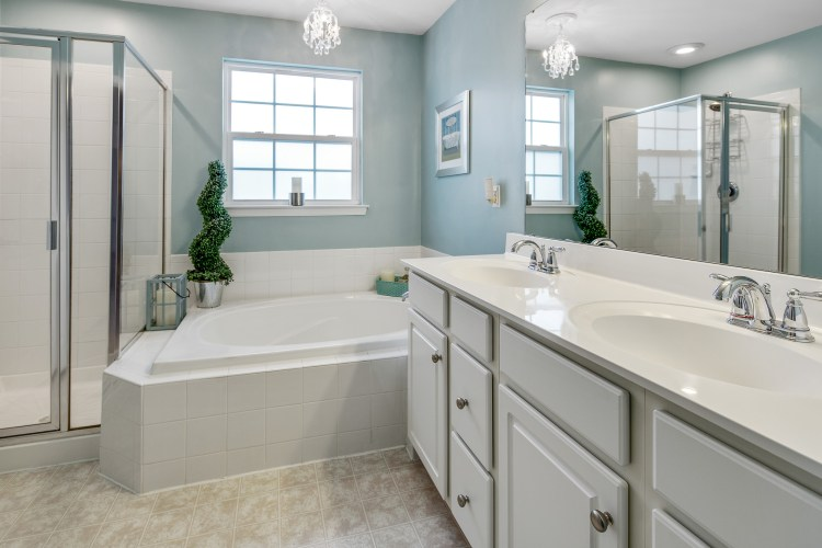 The gorgeous master bathroom. 415 Concetta Drive Mount Royal