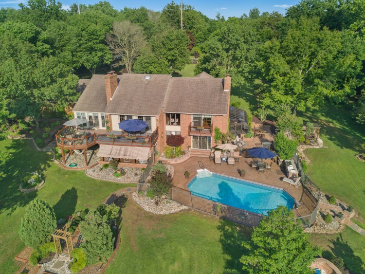 Aerial view of 1060 Mullica HIll Road