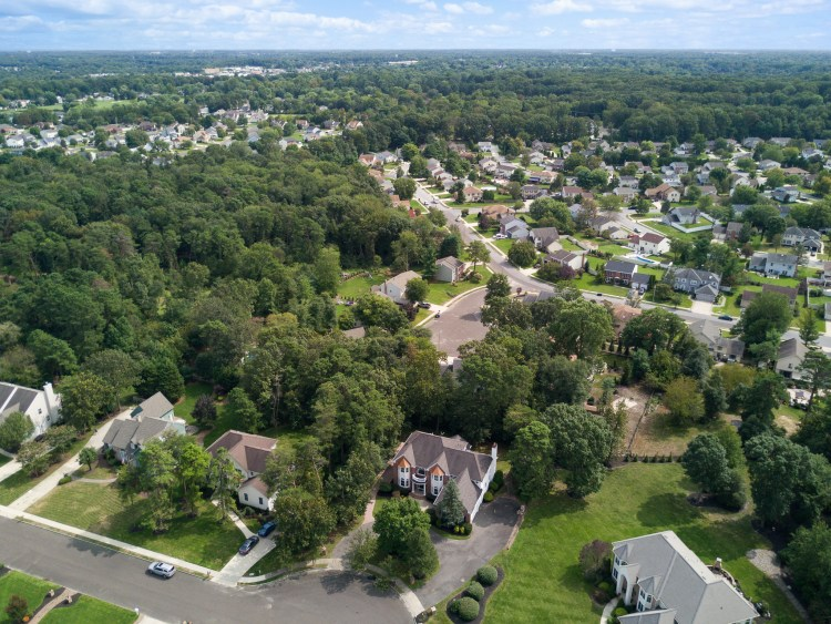 Aerial view of 6 Pine Ridge Court Sewell, NJ