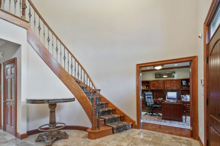 Foyer showing home office. 531 Shadowbrook