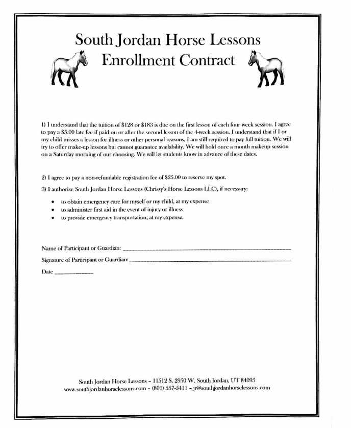 South Jordan Horse Lessons Enrollment Contract - Mar 18 2019 - 11-38 AM