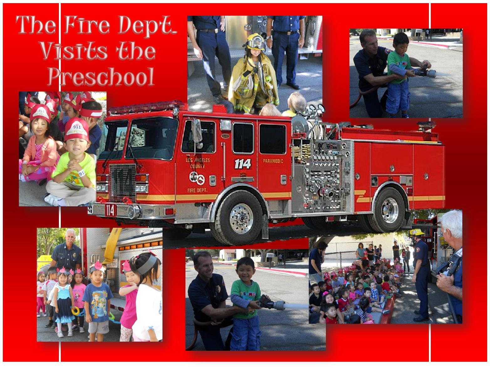 Stop Drop And Roll The Fire Department Visits Our