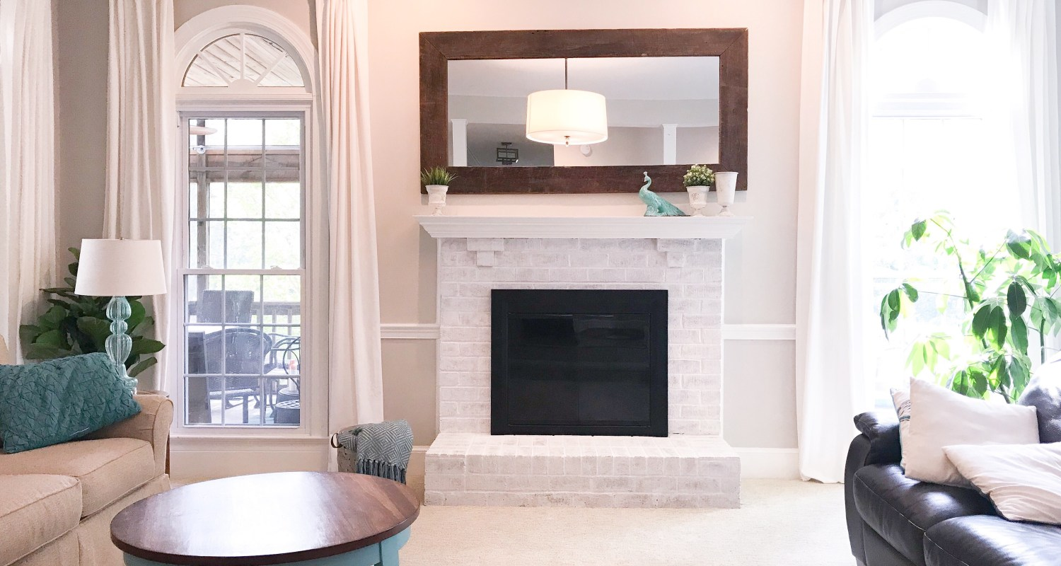 Brilliant How To Limewash Your Brick Fireplace South Lumina Style Interior Design Ideas Inesswwsoteloinfo