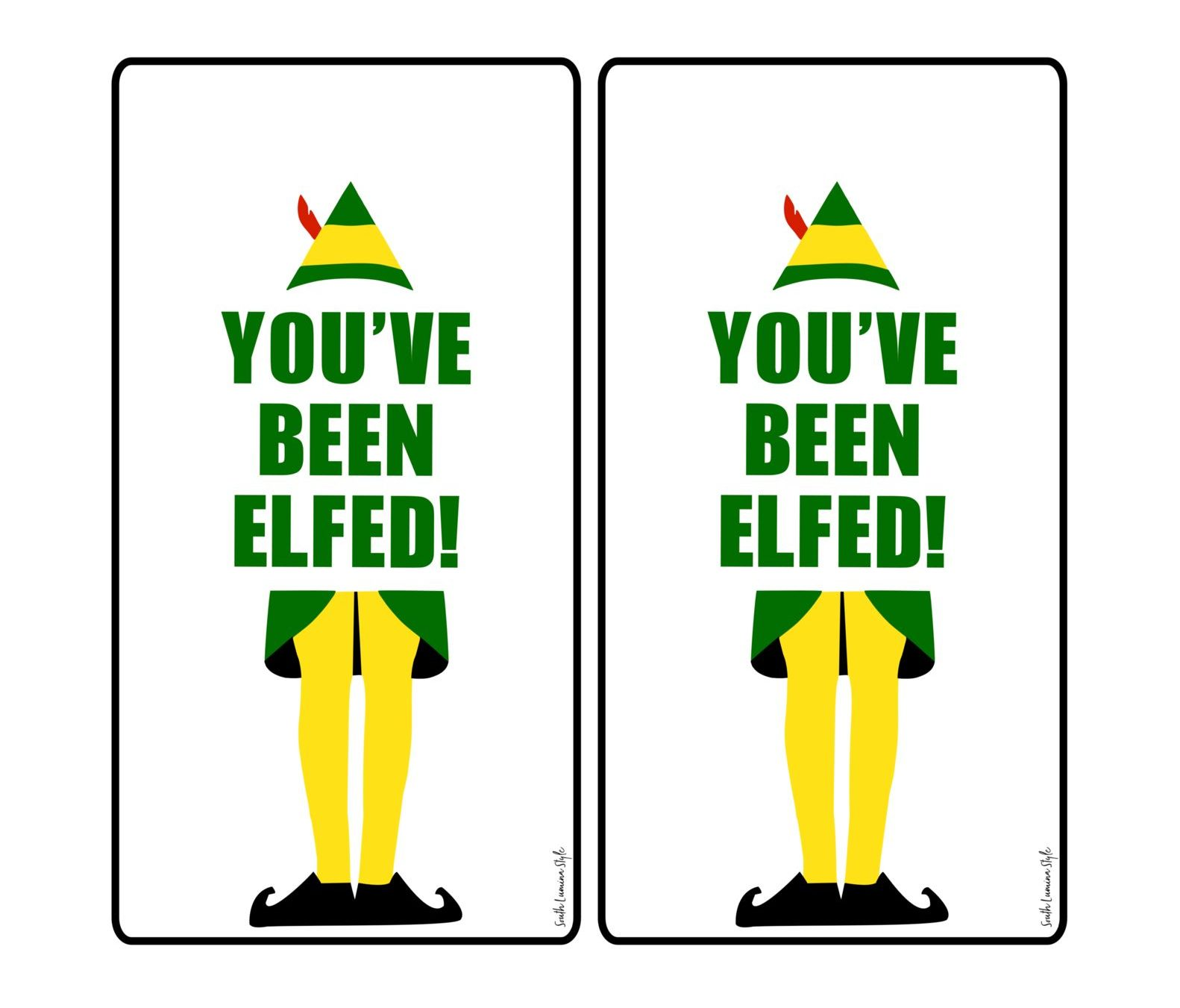 photograph regarding You've Been Elfed Printable known as Youve Been Elfed Printable Present Tags - South Lumina Layout