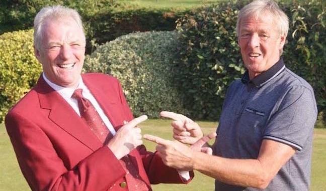 Mike Serrage and his old pal Tony Taylor at Didsbury Golf Club
