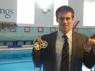 Manchester Grammar School pupil Harry Lewis-Mitchell with his medals