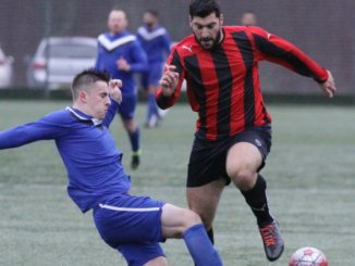 Action from Mellor thirds v Whalley Range thirds (Range in red and black)