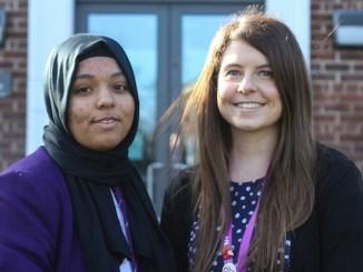 Zainab pictured with Katherine Shakeshaft