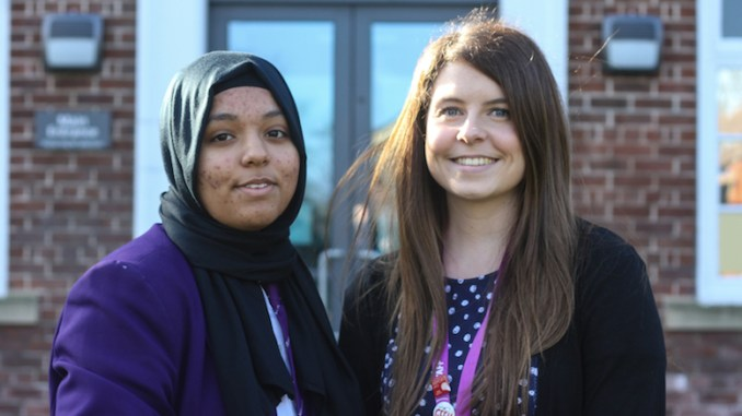 Zainab pictured with Katherine Shakeshaft