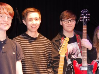 The Fuse and the Small Blonde - drummer Edward Gibbins, lead guitarist Marcus Ayre, vocalist, rhythm guitarist George Williams-Edwards and vocalist and bassist Natasha Woolfenden.